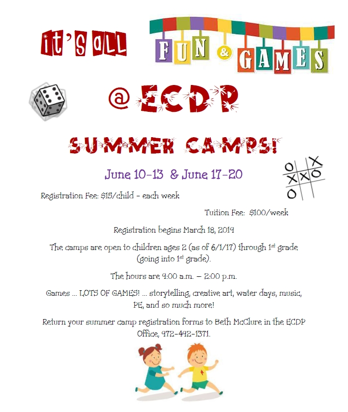 Preschool Summer Camps - Holy Covenant United Methodist